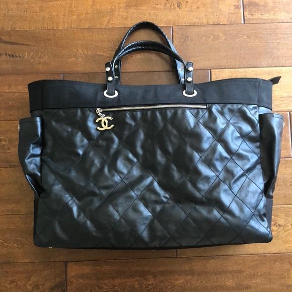 5326f24bf6e8 CHANEL Handbags - Chanel black travel Paris -Biarritz bag XL